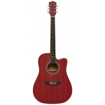 MADERA OK3000C ACOUSTIC GUITAR - MATTE WINE RED