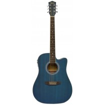MADERA OK3000CE ACOUSTIC GUITAR WITH ACTIVE PICKUP - MATTE BLUE