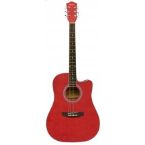 MADERA PH1000CE ACOUSTIC GUITAR WITH PICKUP - MATTE RED