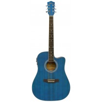 MADERA PH1000CE ACOUSTIC GUITAR WITH PICKUP - MATTE BLUE