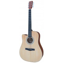 MADERA RD411C/LH LEFT HANDED CUTAWAY FULL SIZE ACOUSTIC GUITAR - NATURAL GLOSS
