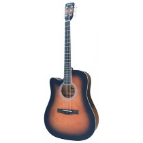 MADERA RD411C/LH LEFT HANDED CUTAWAY FULL SIZE ACOUSTIC GUITAR - SUNBURST GLOSS