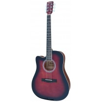 MADERA RD411C/LH LEFT HANDED CUTAWAY FULL SIZE ACOUSTIC GUITAR - WINE RED GLOSS