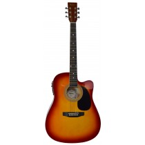 MADERA SP411CE - ELECTRO-ACOUSTIC 41'' GUITAR - CHERRY BURST