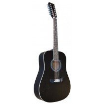 MADERA W4124 12 STRING ACOUSTIC - BLACK