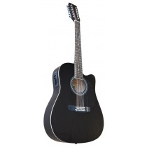 MADERA W4124CE 12 STRING ACOUSTIC WITH ACTIVE PICKUP - BLACK