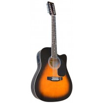 MADERA W4124CE 12 STRING ACOUSTIC WITH ACTIVE PICKUP - DARK VINTAGE SUNBURST
