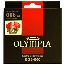 OLYMPIA AN ELECTRIC STRINGS 08-38 COATED PACK