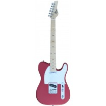 A TONE TELECASTER SHAPED ELECTRIC GUITAR INTO RED COLOR