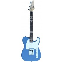 A TONE TELECASTER SHAPED ELECTRIC GUITAR INTO BLUE COLOR