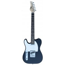 A TONE TELECASTER SHAPED LEFT HANDED ELECTRIC GUITAR INTO BLACK COLOR