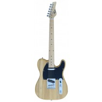 A TONE TELECASTER SHAPED ELECTRIC GUITAR IN NATURAL WOOD COLOR