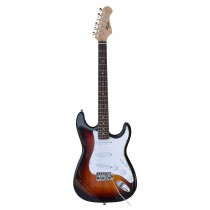 TONE STRAT-STYLE ELECTRIC GUITAR IN 3-TONE SUNBURST
