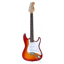TONE STRAT-STYLE JUNIOR ELECTRIC GUITAR IN CHERRY BURST