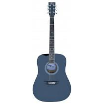 TONE WD605 FULL SIZE ACOUSTIC GUITAR - TRANSPARENT BLUE