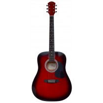 Tone WD601 acoustic full size guitar - Red Burst