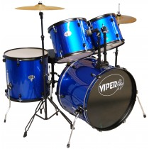 VIPER STUDENT DRUM SETS METALLIC BLUE