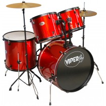 VIPER STUDENT DRUM SETS METALLIC RED