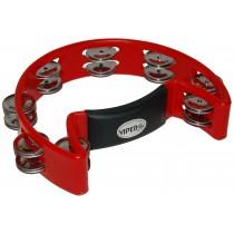 VIPER HALF-MOON TAMBOURINE IN RED