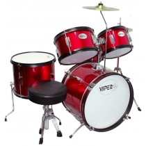 VIPER JR. DRUM SET METALLIC RED