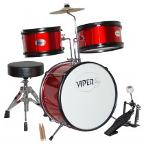 VIPER 3-PIECE JUNIOR DRUMKIT IN METALLIC RED