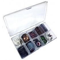 -Box of 300 picks / 10 gadges