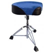 SUEDE TOP BIKE SEAT - DRUM THRONE - BLUE