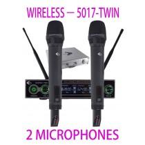 GRF 5017 SERIES - WUHF5017TWIN - WIRELESS MICROPHONES
