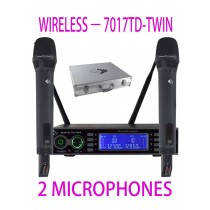 GRF 7017 SERIES - WUHF7017TD-TWIN - WIRELESS MICROPHONES