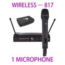 GRF 817 SERIES - WUHF817 - WIRELESS MICROPHONE