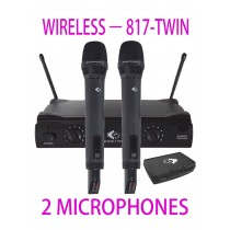 GRF 817 SERIES - WUHF817TWIN - WIRELESS MICROPHONES