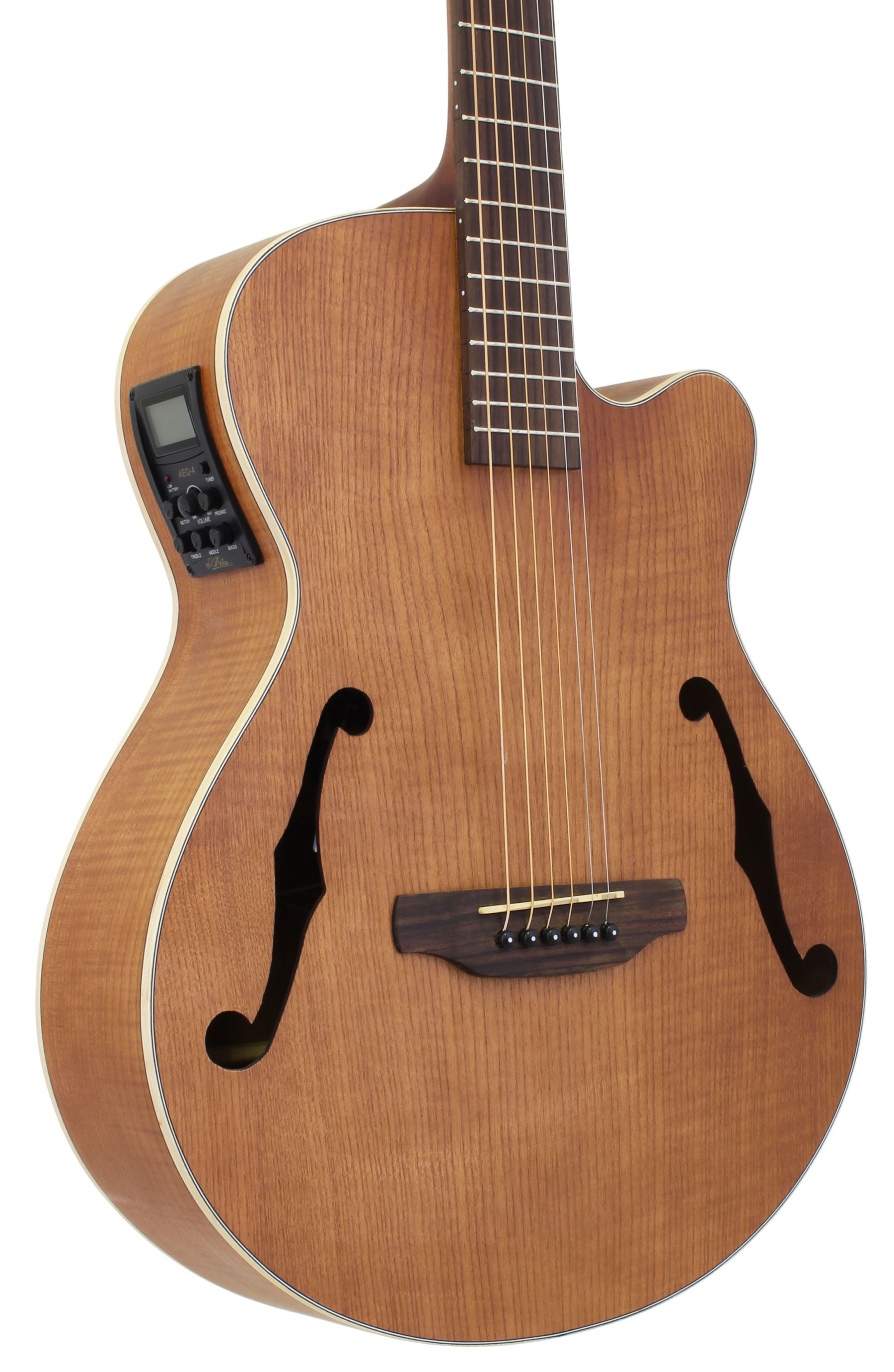 Aria Fet F1 Flat Top Electro Acoustic In Natural
