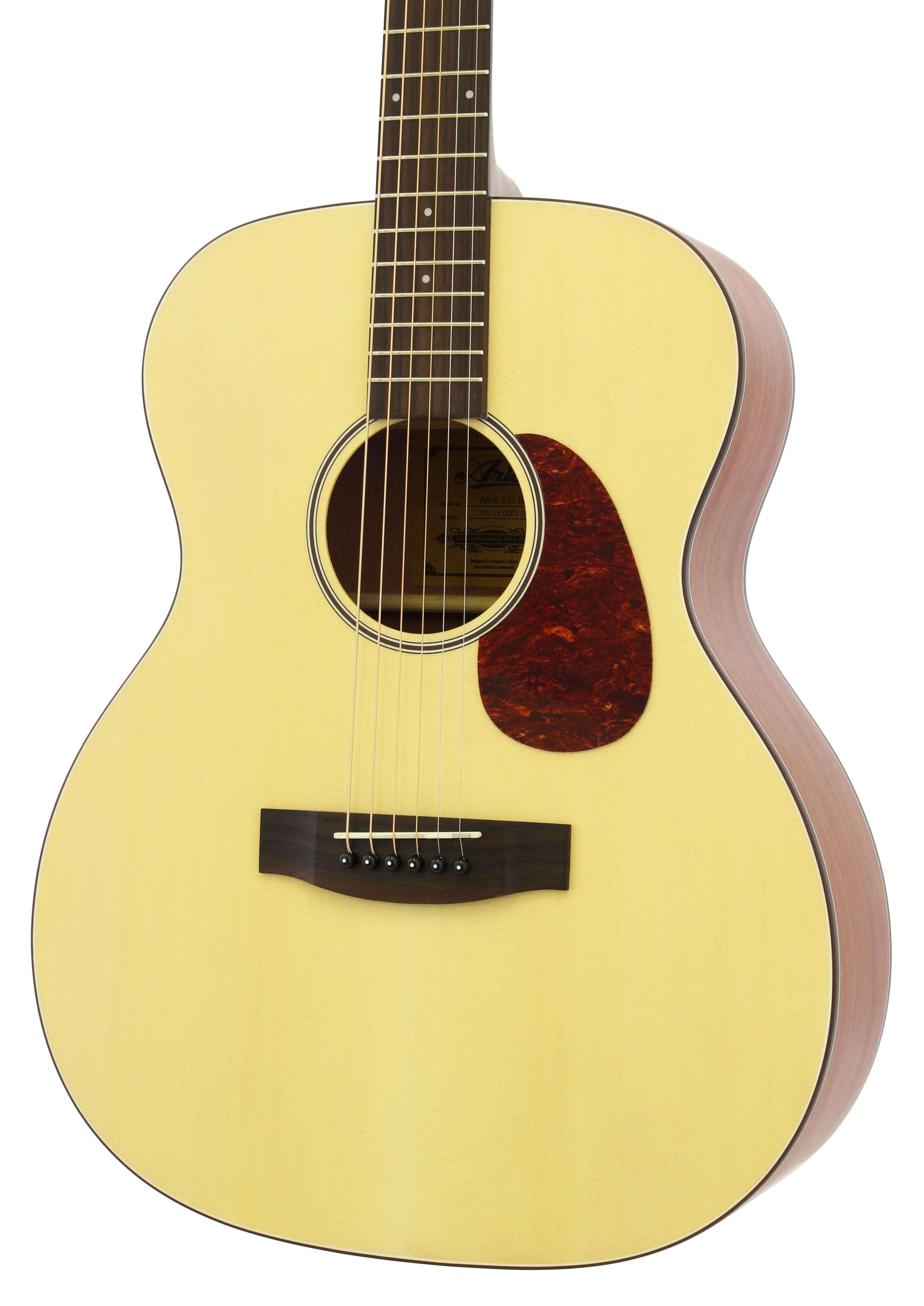 aria 101 orchestra shape acoustic guitar in matte natural. Black Bedroom Furniture Sets. Home Design Ideas