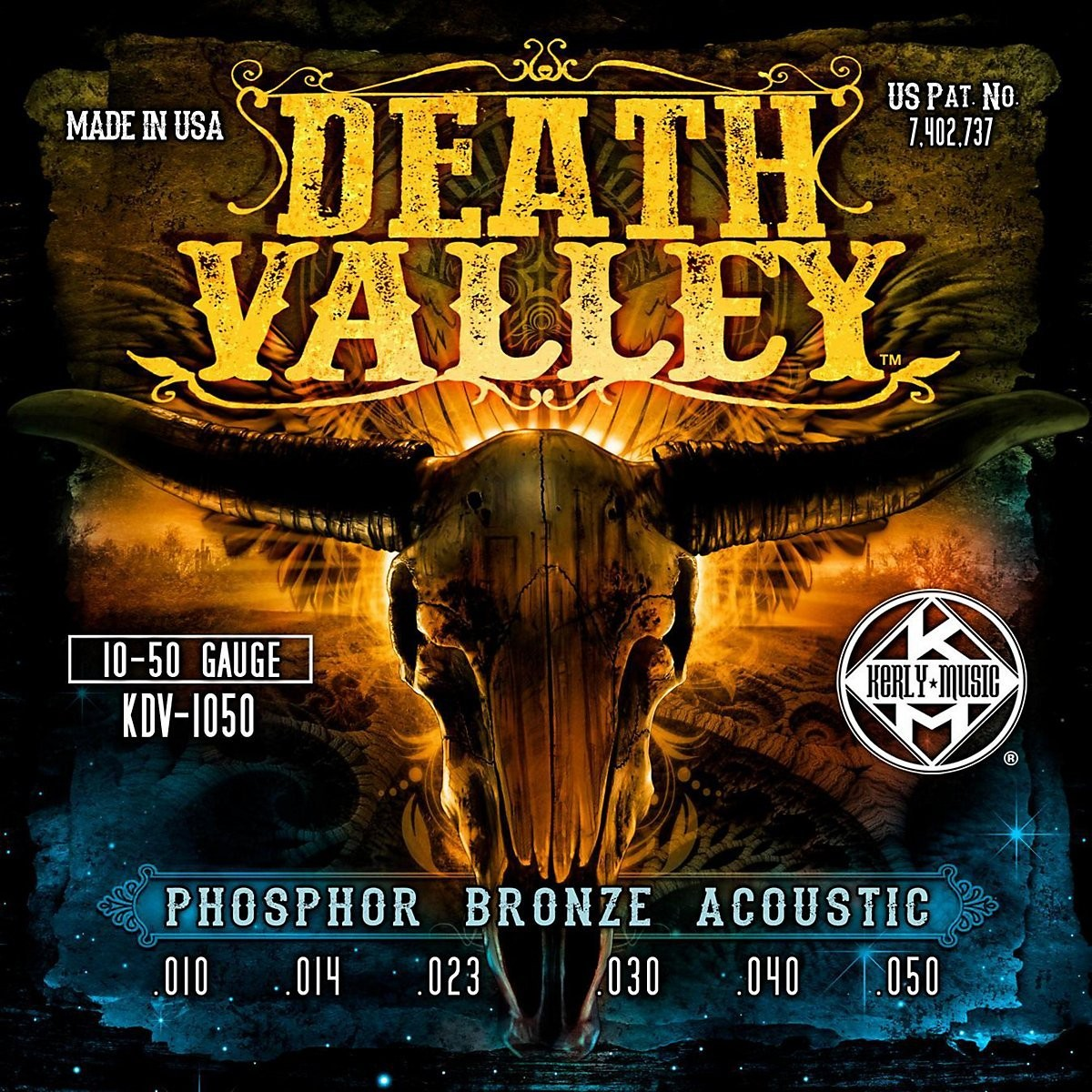 Kerly Death Valley - Phosphor Bronze Acoustic Strings - 10-50