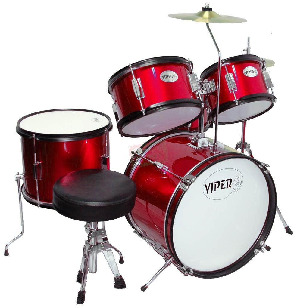 Viper Jr Drum Set Metallic Red Viper Drums Drums Amp Percs