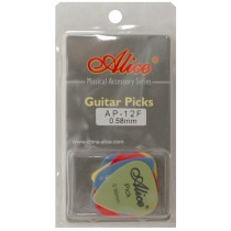 ALICE AP12F GUITAR PICKS - PACK OF 12 (0.58)