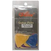 ALICE AP12G GUITAR PICKS - PACK OF 12 (.071)