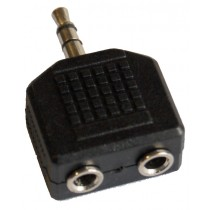 GRF AP1342 2X 1/8 (FEMALE) TO 1/8 (MALE STEREO) ADAPTOR