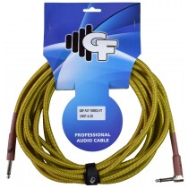 GF TWEED (VINTAGE) INSTRUMENT CABLE ONE SIDE ANGLE - 20 FEET