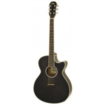 ARIA FET-01STD ELECTRO ACOUSTIC GUITAR IN SEE-THROUGH BLACK