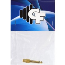 GRF CONNECTOR TRANSFORMER - RCA FEMALE X 1/4 MALE MONO - GOLD