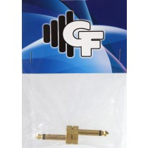 GRF CONNECTOR FOR PEDALS - 1/4 MALE X 1/4 MALE - GOLD