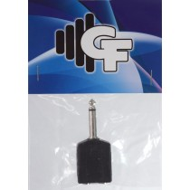 GRF COUPLER TRANSFORMER - 1/4 FEMALE (2X) X 1/4 MALE MONO