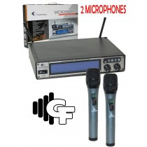 GROOVE FACTORY WUHF7000-DUAL PROFESSIONAL WIRELESS MICROPHONE!