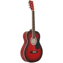 MADERA LD381 38'' ACOUSTIC KIDS GUITAR - RED BURST