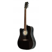 MADERA SPRUCE TOP WITH PICKUP SP411 -BLACK (LEFT HANDED)