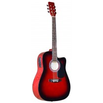 MADERA SP411CE - ELECTRO-ACOUSTIC 41'' GUITAR - RED BURST