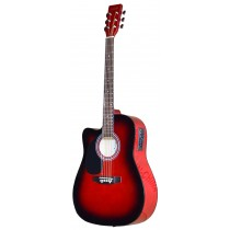 MADERA SRUCE TOP WITH PICKUP SP411 -RED BURST (LEFT HANDED)
