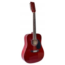 MADERA SPRUCE TOP --- 12 STRINGS GUITAR  - TRANSPARENT RED