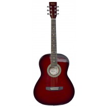 MADERA LD381 38'' ACOUSTIC KIDS GUITAR - WINE RED